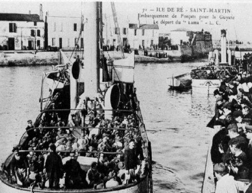 Départ pour le bagne à Saint Martin de Ré