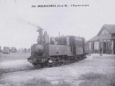 Train sur l'Ile de Ré, Hôtel de La Marée Rivedoux Plage