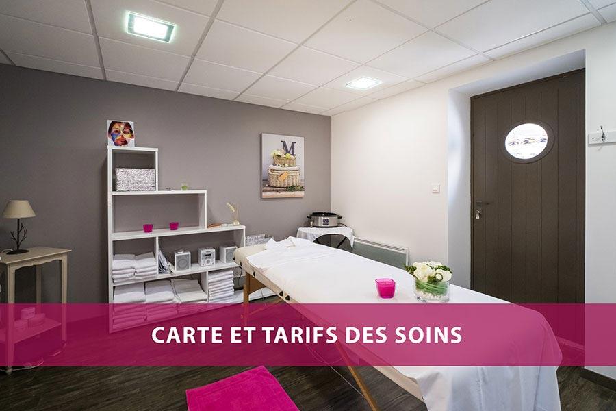 Hôtel de La Marée - Carte des soins