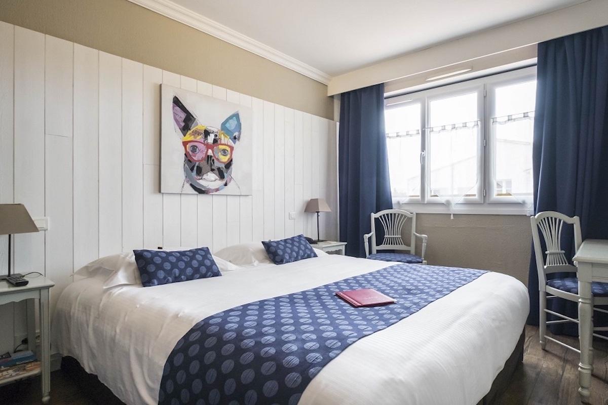 Hotel de La Marée - Hotel de charme 3 étoiles - Ile de Ré - Chambre standard sur l'Ile de Re vue jardin piscine