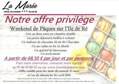 Paques 2018 Slide In Hotel La Maree Ile de Re