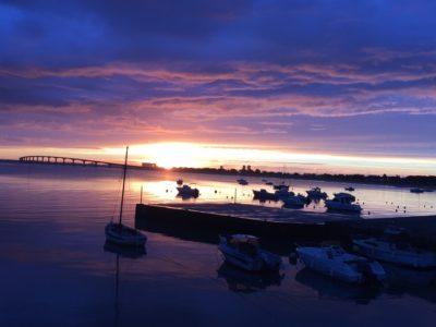 lever de soleil port Rivedoux Plage Hotel La Marée format web