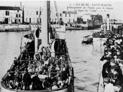 Départ pour le bagne, Ile de Ré, Hôtel de La Marée