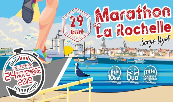 Marathon de La Rochelle, le dimanche 24 novembre 2019