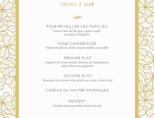 Menu du 31 Décembre 2020 – Hotel Restaurant Ile de Ré 3 étoiles