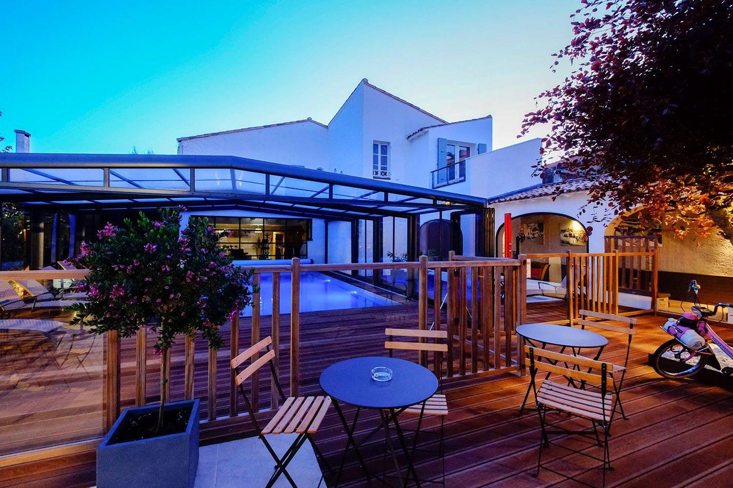 Hotel ile de ré rivedoux-plage hotel 3 étoiles, Hotel de La Marée, Ile de Re piscine chauffée et couverte