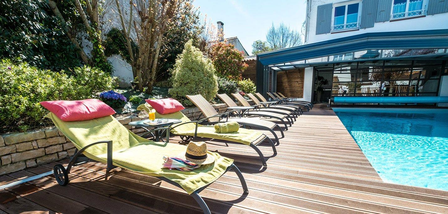 Hotel ile de ré rivedoux-plage hotel 3 étoiles, Hotel de La Marée, Ile de Re Piscine chauffée